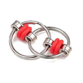 أحمر تخفيف الضغط سلسلة أطراف الأصابع سلسلة من الحديد حلقة المفاتيح الكبار تنفيس المفاتيح x4793