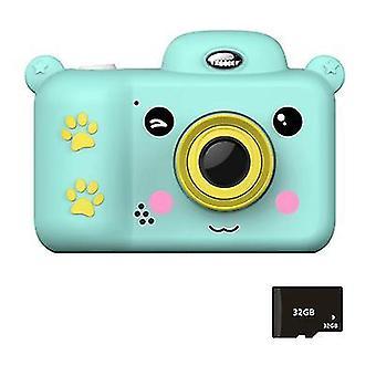 Sininen lasten digitaalikamera lasten lelut 2,4 tuuman hd-näyttö 32Gb sd-kortilla az22238