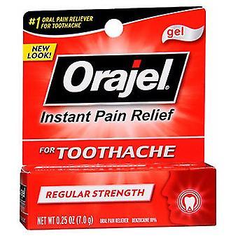Arm & Hammer Orajel Regular Strength Toothache Pain Relief Gel, 0.25 oz