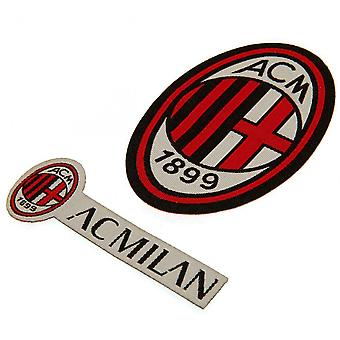 AC Milan Iron On Patch Set (Pack of 2)