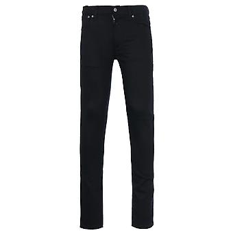 Nudie Jeans Co Lean Dean Dry Ever Black Denim Slim Fit Jeans