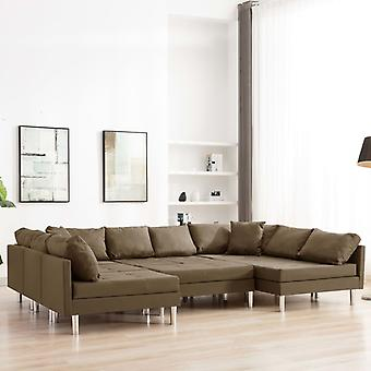 vidaXL canapé modulaire Tissu Brun