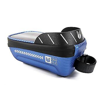 Bicycle waterproof phone storage bag, phone bag can be operated by touch screen(Blue)