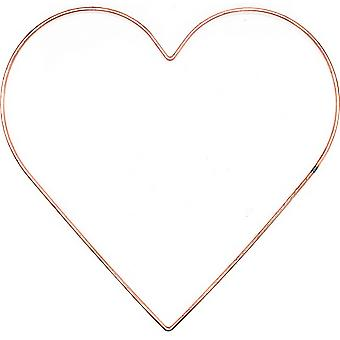 355mm (14in) Copper Metal Heart Ring for Crafts - Wreath & Flower Hoop