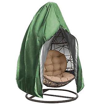 (Grøn) Hængende hængekøje Stand Egg Wicker Seat Patio Garden Gyngestol Cover Vandtæt