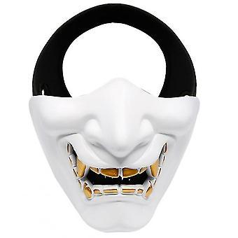Devil Horror Grimace Adult Half Face Mask(White)