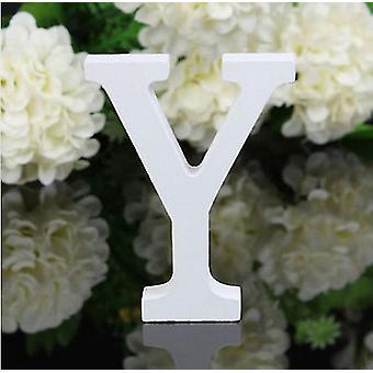 Lettere numeri di casa 1pc lettere in legno indipendenti alfabeto bianco per matrimonio / festa di compleanno