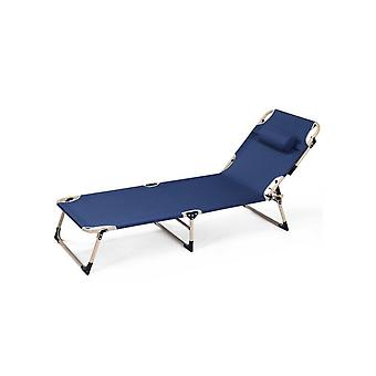 Folding Bed Folding Reclining Chair Lunch Break Siesta Bed Beach Portable Balcony Leisure Home Reclining Chair Backrest Lazy Sofa Dual-use Hl-0902