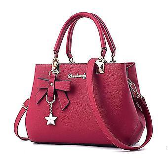 Lässige Damenhandtasche im europäischen und amerikanischen Stil (Pink)