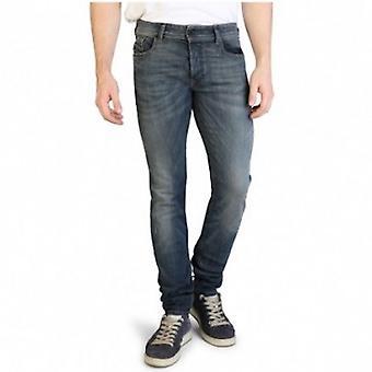 Emporio Armani Men 5 Pockets Pants Regular fit Ankle length  Blue