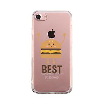 Burger Transparent Phone Case Best Friends Matching Cover