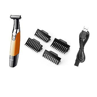 Trimmer Hair Trimmer USB Rechargeable Shaver For Men Professional Epilator Blade Beard(orange)