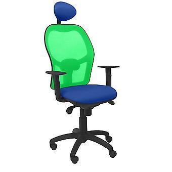 Bureaustoel met hoofdsteun Jorquera P&C ALI229C Blauw