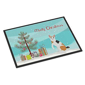 Door mats japanese bobtail cat merry christmas indoor or outdoor mat 18x27