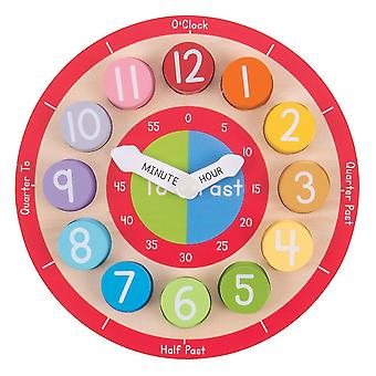 Toy kitchens play food wooden teaching clock - tell the time