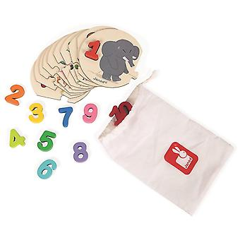 Wooden pegged puzzles i learn to count puzzle