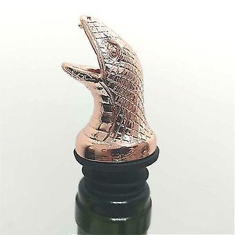 Scandinavische stijl zinklegering dierlijke thema wijn stop en pourer (Rose Gold Snake)