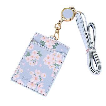 חמוד פרחים פו עור אוטובוס מזהה מחזיק כרטיס אשראי מארז נייד תג נשלף צוואר רצועה שרוך לעבודה משרדית