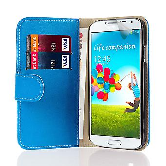 Book wallet case + stylus for Samsung Galaxy S4 Active i9295 - Deep Blue