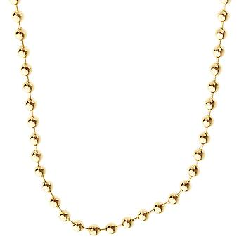 925 sterling silver bling chain - BALL 4mm guld