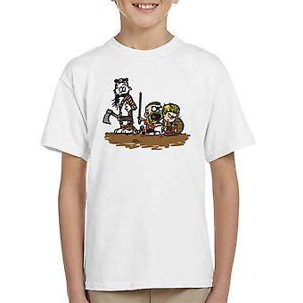 Calvin And Hobbes Vikings Ragnar Lothbrok Kid's T-Shirt