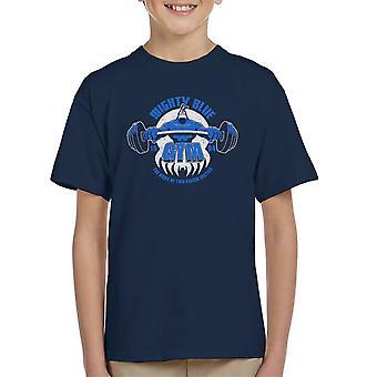 Mighty blauw sportschool de teek Kid's T-Shirt