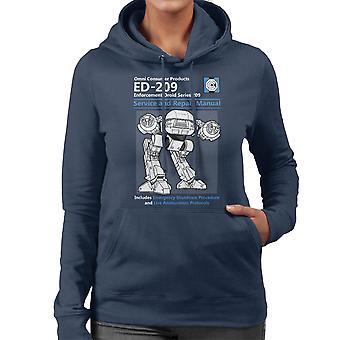 RoboCop ED209 Service And Repair Manual Women's Hooded Sweatshirt
