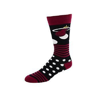 Miami Heat NBA Dots & Stripes Socks