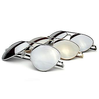 Premium Mirrored Aviator Top Gun Sunglasses w/ Spring Loaded Temples
