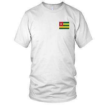 Drapeau National du pays de Toga - brodé Logo - T-Shirt 100 % coton T-Shirt Mens