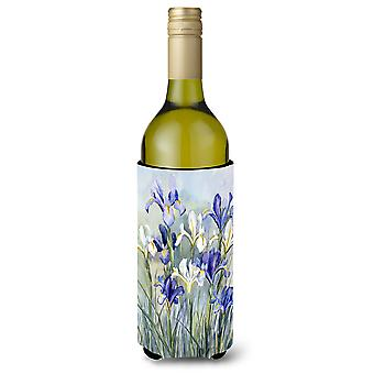Iris by Bettie Cheesman Wine Bottle Beverage Insulator Hugger