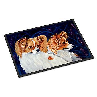 Carolines Treasures  7241JMAT Papillon Indoor or Outdoor Mat 24x36 Doormat