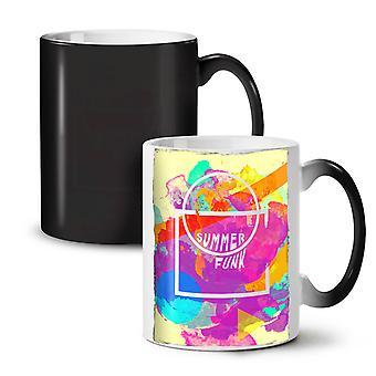 Summer Funk Sunny NEW Black Colour Changing Tea Coffee Ceramic Mug 11 oz | Wellcoda