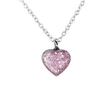 القلب-925 الاسترليني فضة عادي قلادات-W31301x
