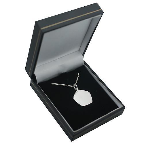 Silber 21mm fünf einseitig Krebs Sternzeichen Anhänger mit einer Kandare Kette 24 Zoll