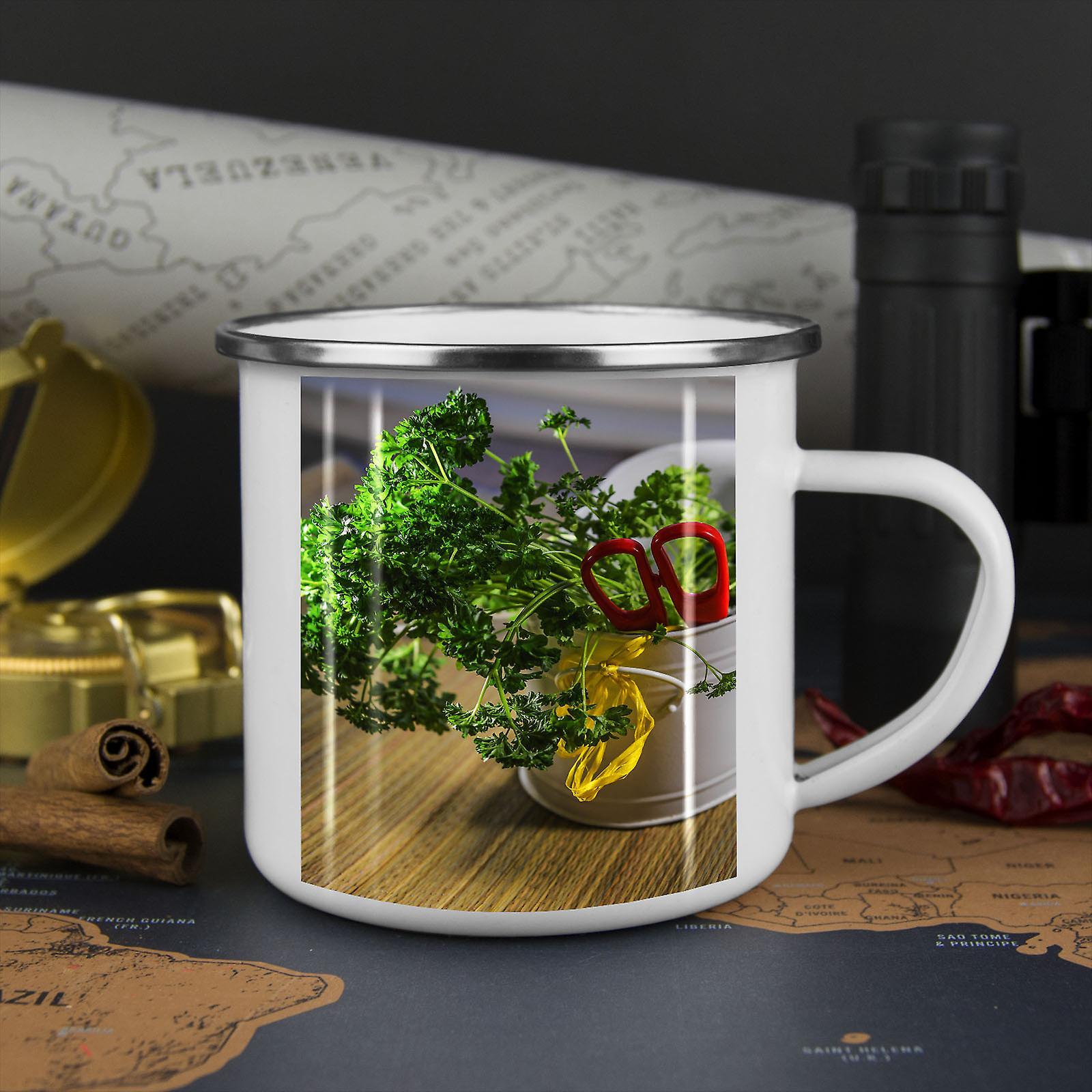 Vegetable Garden Essen neue WhiteTea Kaffee Emaille Mug10 oz | Wellcoda