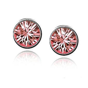 Womens Gestüt Ohrringe Lachs rosa Farbe