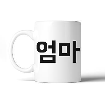 Mom Korean Letters 11 Oz Ceramic Coffee Mug
