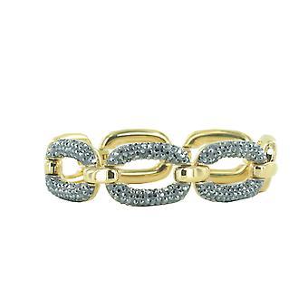 Pulsera acero Joop mujer oro forma de óvalo JPBR10641B180