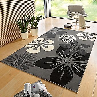 Flore de tapis Design velours gris | 102400
