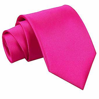 Varm rosa ren sateng ekstra lange slips