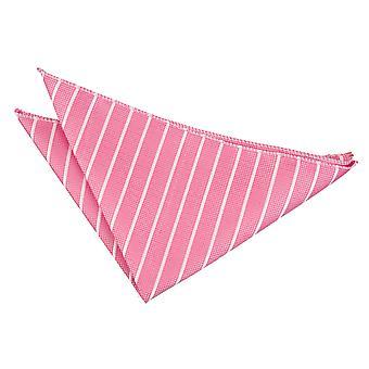 Hot Pink & White Single Stripe zak plein