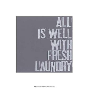 Frisk Klesvask jeg Poster trykk av Deborah Velasquez (13 x 19)