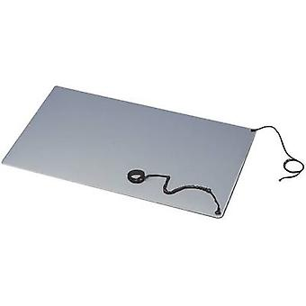 BJZ C-184 102P 10.3 ESD bench mat set Grey (L x W) 900 mm x 600 mm incl. PG strap, incl. PG connector, incl. PG cable