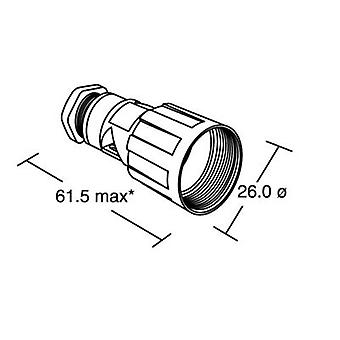 Bulgin PX0800 - corpo do conector IP68, Mini Buccaneer, Flex cabo monte