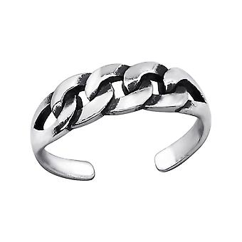 Patterned - 925 Sterling Silver Toe Rings - W27629x