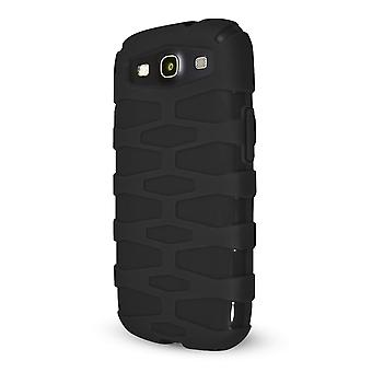 Technocel Rugged Slider Skin for Samsung Galaxy S3 - Carrying Case - Black