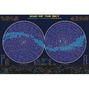 Ster poster kaart van de hemel