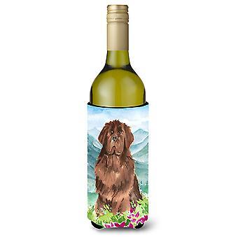 جبل الزهور نيوفاوندلاند زجاجة النبيذ المشروبات عازل نعالها