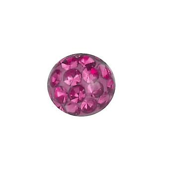 Piercing udskiftning bold, krop smykker, Multi krystal sten Pink | 4, 5 og 6 mm